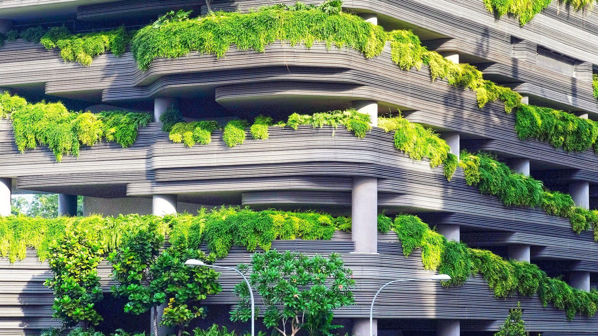 Grönt garage